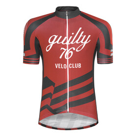 guilty 76 racing Velo Club Pro Race Bike Jersey Shortsleeve Men red